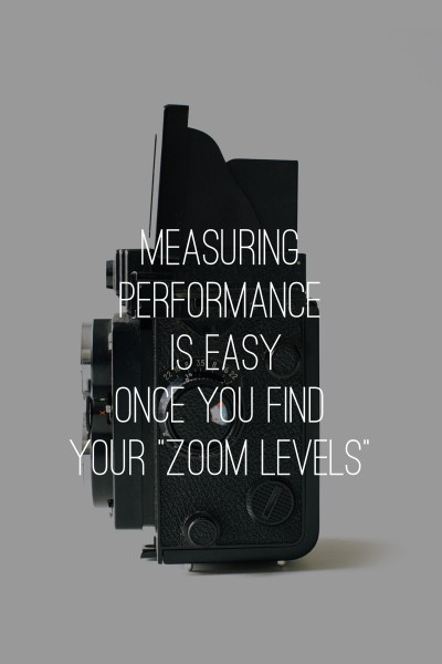 """Measuring Performance Is Easy Once You Find Your """"Zoom Levels"""""""