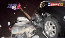 機車撞倒汽車輾過 晨運婦枉死輪下