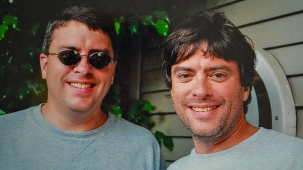 PHOTO: Twin brothers Howard Burack, left, and Doug Rausch were separated at birth and finally reunited at an airport in Columbus, Ohio. (Courtesy Doug Rausch and Howard Burack)