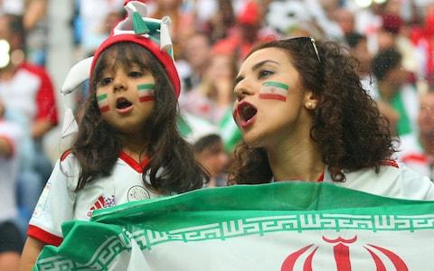 Iranian women were able to support their team during the 2018 World Cup in Russia - Credit: Robbie Jay Barratt - AMA/Getty Images