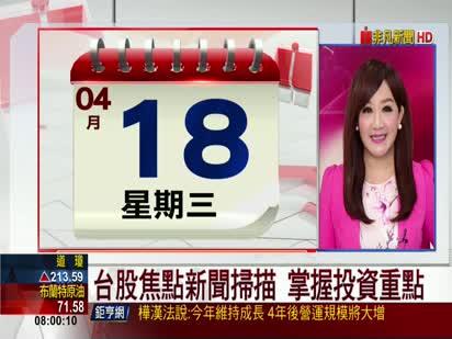 5分鐘看台股/2018/04/18早盤最前線