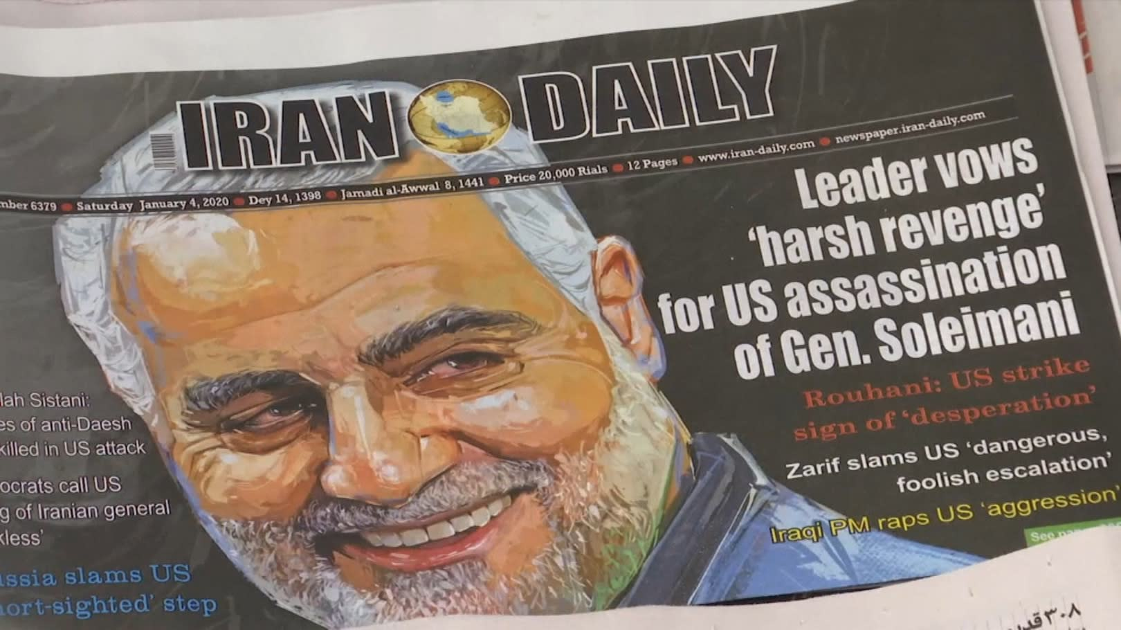 美斬首伊朗將領 兩伊上萬人上街怒吼
