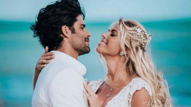 Caroline Bittencourt e o marido, Jorge Sestini, se casaram em janeiro deste ano. (Foto: Reprodução/Instagram)