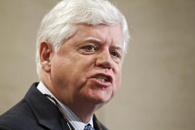 Rep. John Larson (D-Conn.) speaks on Capitol Hill in January 2012. He has recruited more than 200 co-sponsors for his Social Security 2100 bill expanding Social Security benefits. (J. Scott Applewhite/ASSOCIATED PRESS)