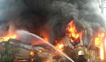 鹿港民宅火災鐵皮屋頂坍塌 6旬婦葬身火窟