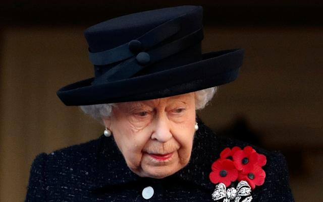 The Queen attends the annual Remembrance Sunday Service at The Cenotaph - Max Mumby