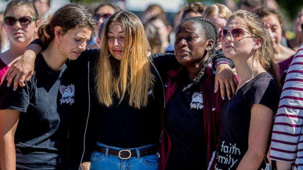 PHOTO: Students attend a prayer service at Parkridge Church in Coral Springs, Fla., a day after a mass shooting occurred at the nearby Marjory Stoneman Douglas High School, Feb. 15, 2018. (Saul Martinez/The New York Times via Redux Pictures)