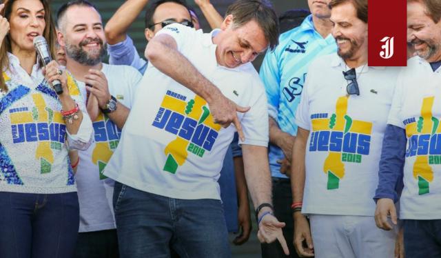 Presidente Jair Bolsonaro na Marcha para Jesus, em São Paulo, 2019
