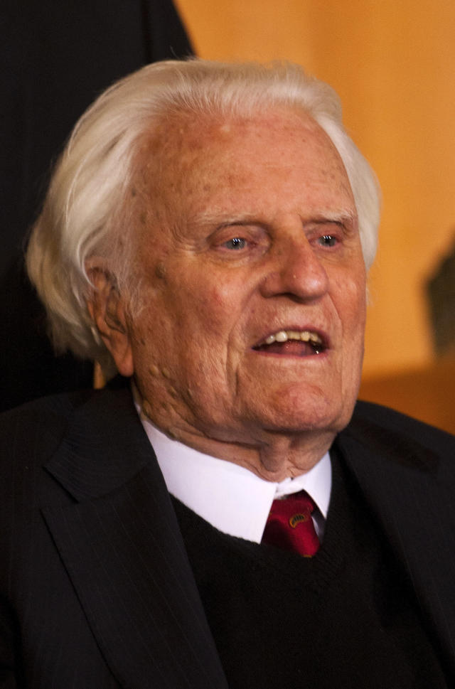 Billy Graham, seen in 2010, has died at the age of 99. (CHRIS KEANE / Reuters)