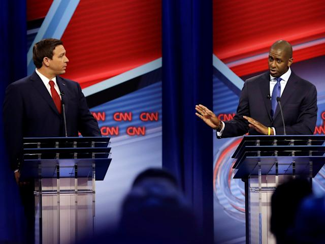 The two met on Sunday evening for their first debate: REUTERS