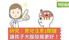 研究:育兒注意1關鍵,讓孩子大腦發展更好!