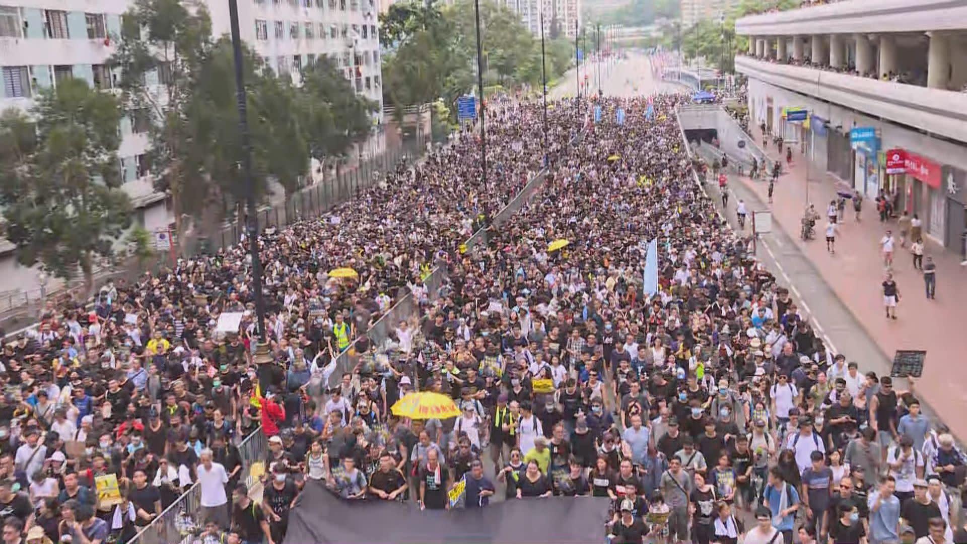 【沙田遊行】大會:11萬5千人參與遊行