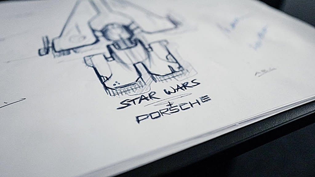PORSCHE保時捷跨足電影,和好萊塢電影公司合作設計Star Wars星際新太空航鑑