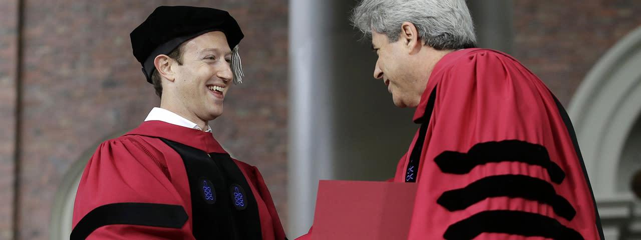 臉書CEO祖克柏 哈佛畢業演講