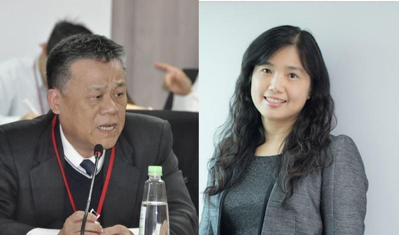 NCC委員洪貞玲(右)、世新大學校長吳永乾(左)。圖:新頭殼合成