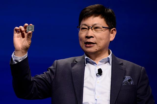 Huawei's CEO Richard Yu at Mobile World Congress (JOSEP LAGO / Contributor / Getty)