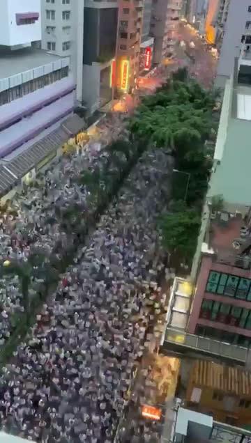 這就是103萬人的氣勢!港人「反送中」人潮狂湧看不到盡頭驚人影片曝光