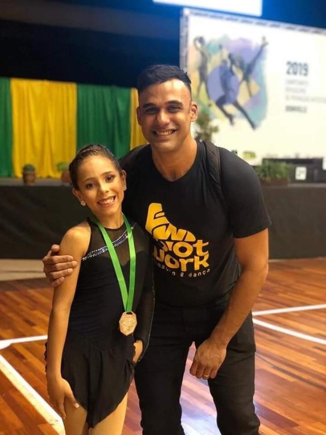Pai da patinadora trans Maria relatou episódios de preconceito contra a filha em competição. Foto: Acervo Pessoal