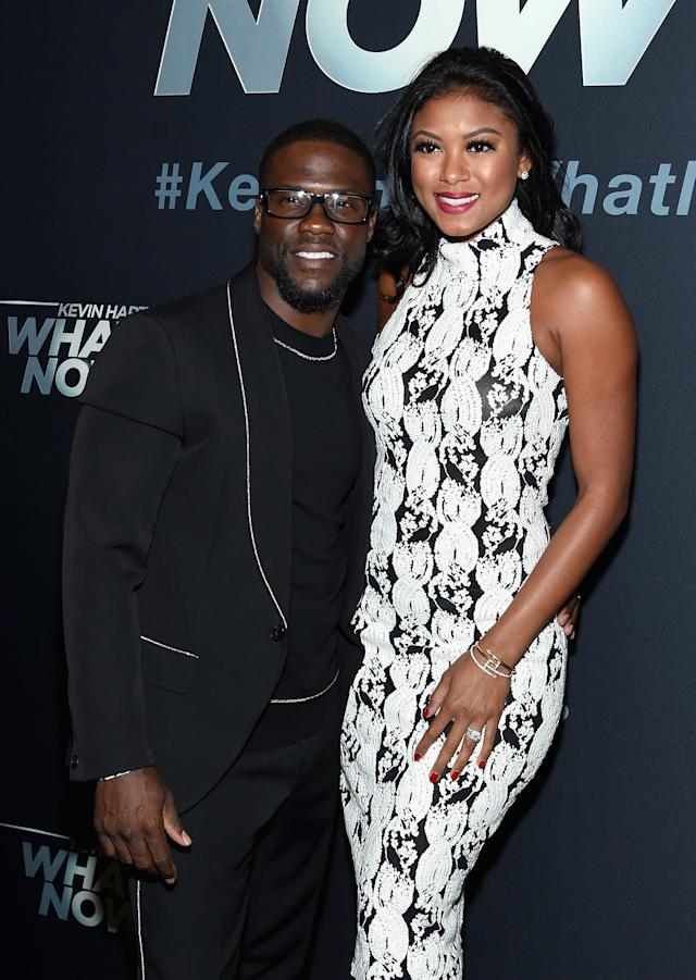 Kevin Hart and wife Eniko in 2016.