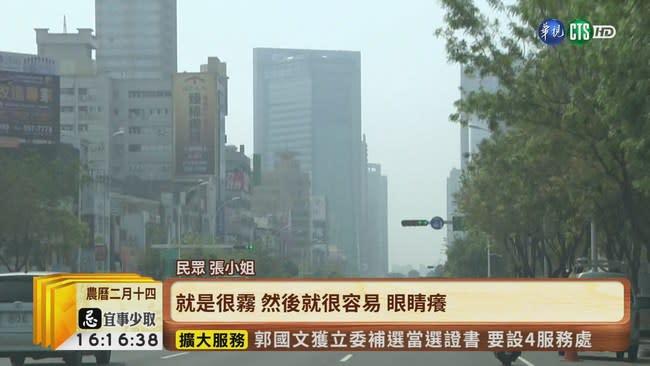 【台語新聞】今西半部空品紅色警戒 高雄最嚴重!