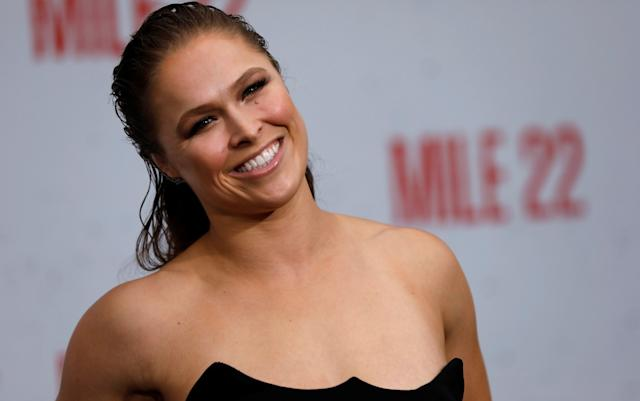 Ronda Rousey joined Yahoo Sports' Tim Hines to talk about her new movie, her favorite things in life, and try her hand at Pop-A-Shot. (Reuters)