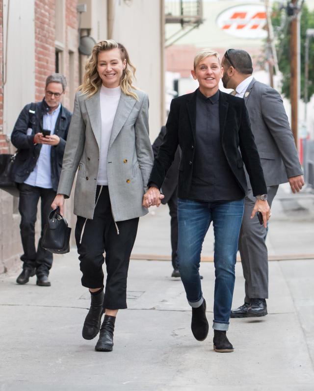 Portia de Rossi and Ellen DeGeneres pictured together on Dec. 10. (Photo: RB/Bauer-Griffin/GC Images)