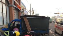 屏東小貨車與兩機車事故三人輕重傷