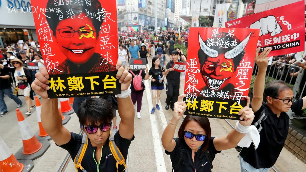 6.16反送中遊行再起 「黑潮」塞爆香港街頭