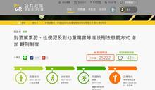 網友提案對酒駕累犯、性侵犯實施鞭刑 政委唐鳳12/1召開協作會議