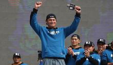 拿下首枚冠軍戒 林英傑:想續當選手 (圖)