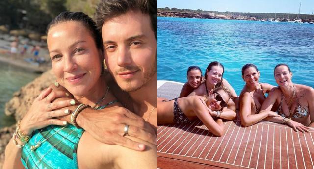 Luana Piovani celebra férias em Ibiza com Marcel Sturmer e com amigas. Fotos: reprodução/Instagram/luapio