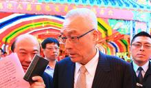 吳敦義台中出席六房媽祖遶境活動起馬宴 (圖)