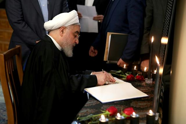 Iran's president urges 'unity' after plane protests