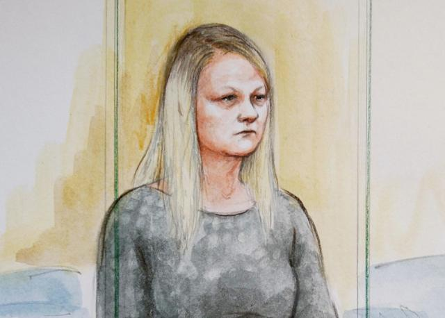 Louise Porton in the dock at Birmingham Crown Court, June 26, 2019. A mum will go on trial at Birmingham Crown Court today, June 26, 2019, after she denied murdering her two young daughters within three weeks of each other. See SWNS story SWMDmurder. Louise Porton, 23, is accused of killing three-year-old Lexi Draper and 16-month-old Scarlett Vaughan last year. Porton, will stand trial today June 25 after pleading not guilty to two charges of murder. The court heard she allegedly murdered Lexi on January 15 2018 and Scarlett on February 1 2018.
