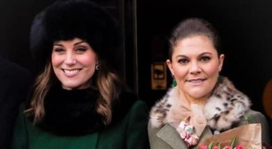 凱特王妃「時尚外交」比拚超精采!一天換三套華服氣走瑞典公主
