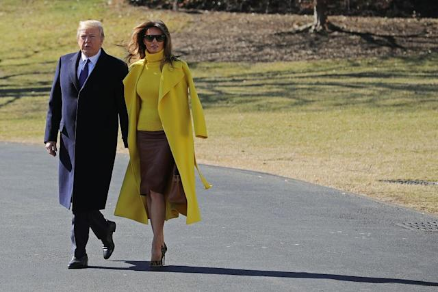Trump fails to hold Melania's hand