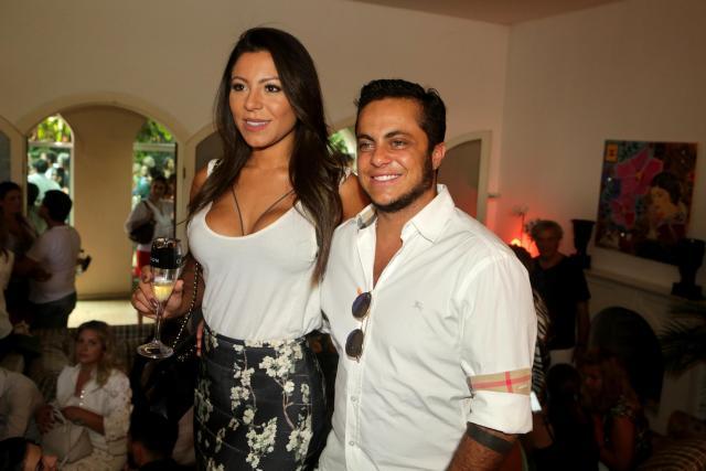 ***ARQUIVO***SÃO PAULO, SP, 11.02.2017: Thammy Miranda com a namorada, Andressa Ferreira, na festa de aniversario de Helinho Calfat e Thalyta Pugliesi, em São Paulo. (Foto: Greg Salibian/Folhapress)