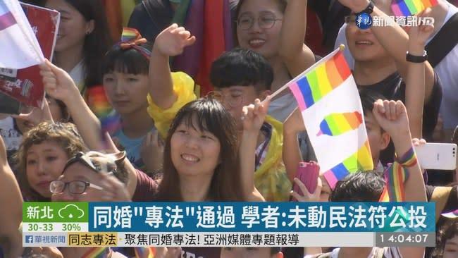 同婚專法通過 學者:未動民法符合公投