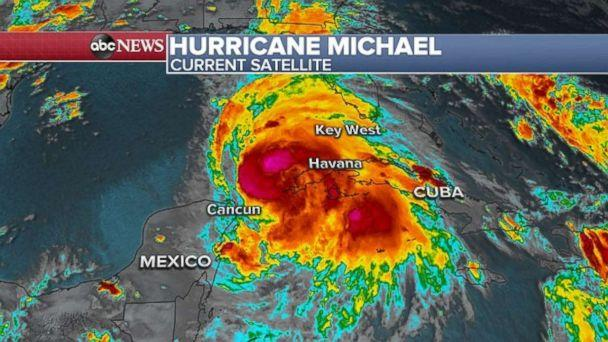 PHOTO: Tropical Storm Michael is moving north on Monday as it targets Florida later this week. (ABC News)