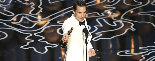 Matthew McConaughey onstage at the Oscars (Adam Taylor/Disney ABC)