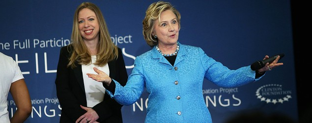 Hillary Clinton questioned over Chelsea's baby (Spencer Platt/Getty Images)