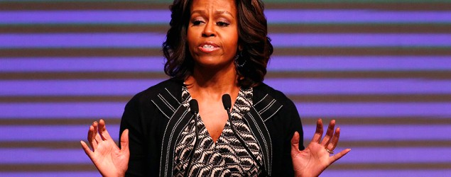 Michelle Obama has been invited to attend a high school graduation ceremony in Kansas. (Reuters)
