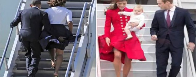 Wardrobe malfunctions on the tarmac