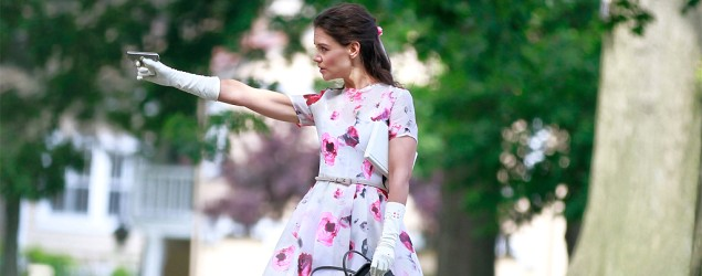 "Katie Holmes in ""Miss Meadows"" (Geoffrey Mandel/Myriad Pictures)"
