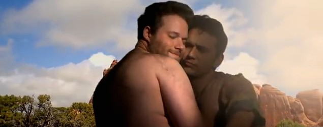 "Seth Rogen and James Franco in ""Bound 2"" spoof (YouTube)"