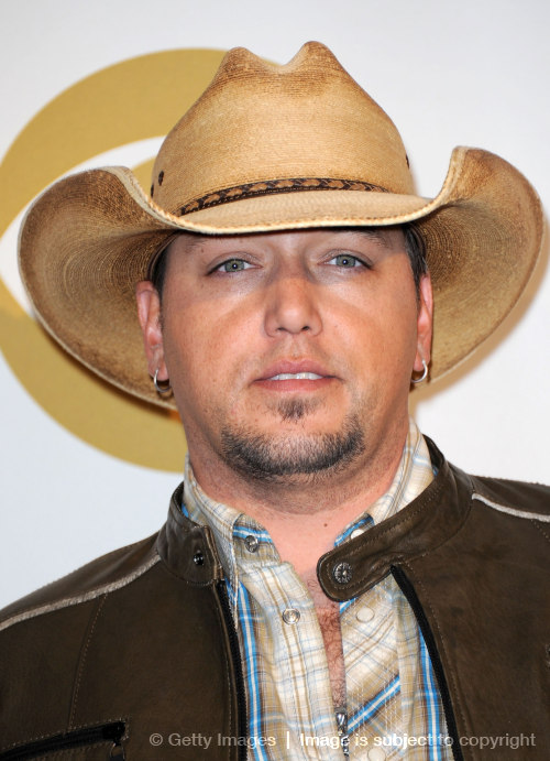 Singer Jason Aldean poses at the Grammy