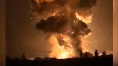 陸工廠大爆炸 驚見「蕈狀雲」