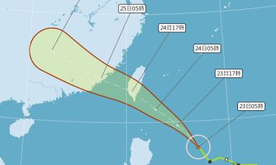 颱風往南移 暴風圈明上午觸陸
