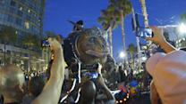 How to Make a Giant Creature - Watch the Giant Creature Crash Through San Diego Comic-Con 2014