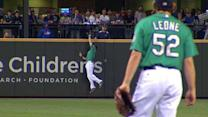 Ackley's spectacular catch